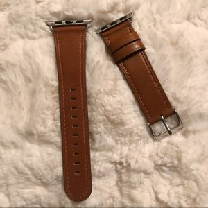 Accessories - brown leather-like Apple Watch  strap